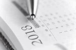 Pen and plan a date in the new year