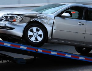 Car Being Towed Away After Accident.