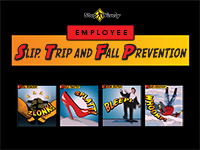 Slip, Trip and Fall Prevention for Employees Training title slide