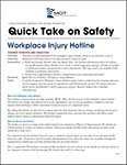 Quick Take on Safety: Workplace Injury Hotline thumbnail of script document