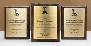 Awards plaques for 2020 MCIT award winners