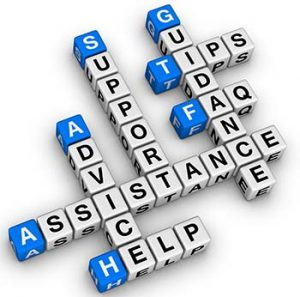Crossword with words associated with employee assistance program: guidance, advice, help, tips
